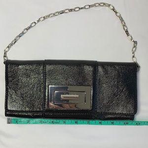 Black Banana Republic shoulder bag, silver chain